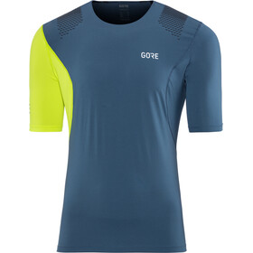 GORE WEAR R7 Fietsshirt Korte Mouwen Heren, deep water blue/citrus green